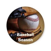 Sticker: Baseball Season Classic Round Sticker
