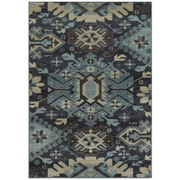 Oriental Weavers Linden 4302A Navy/ Blue Geometric Area Rug