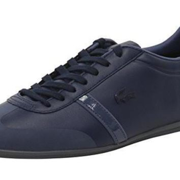 Lacoste Men's Mokara 416 1 Leather Shoe Sneaker, Size: 10.5 D(M) US, Color: Navy