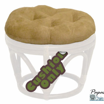 """18"""" Round Footstool Cushion in Microsuede (Cushion Only)"""