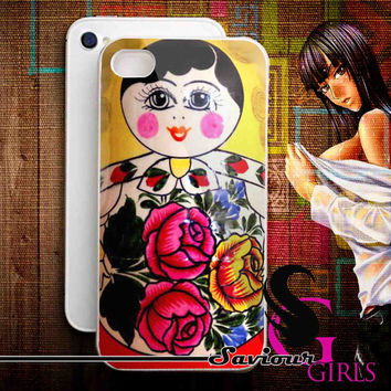 Russian Doll Matryoshka for iPhone 4/4S, 5/5S, 5C and Samsung Galaxy S3, S4 - Rubber and Plastic Case