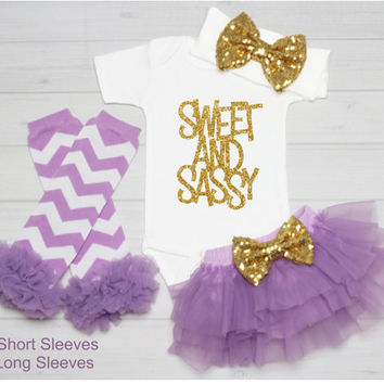 Baby Girl Outfit Take Home Outfit, Baby Bodysuit Girl Onepiece, Newborn Girl, Baby Shower Gift, Going Home Outfit, Sweet and Sassy Bodysuit