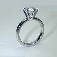 0.31ct F-VS1 Round Diamond Engagement Ring  JEWELFORME BLUE