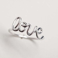Simple LOVE WIRE Ring in Silver