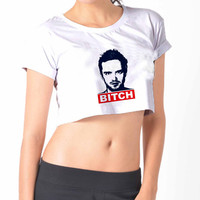 Breaking Bad Jesse Bitch History Crop Shirt , Custom Crop Shirt , Woman Crop Shirt