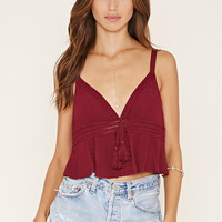 Crochet V-Cut Crop Top