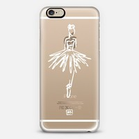 Ballerina - White Transparent iPhone 6 case by Whitney Blake | Casetify