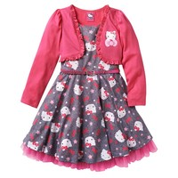 Hello Kitty Mock-Shrug Star Dress - Girls 4-7