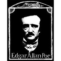 Edgar Allan Poe Men's Woven Patch Black