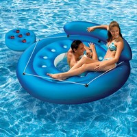 Poolmaster French Pocket Convertible Island Inflatable Pool Float