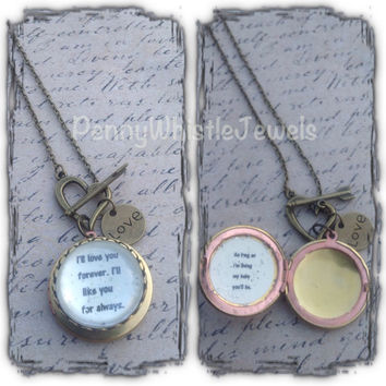 I'll Love You Forever Locket, Mom Photo Locket, Quote Locket, Picture Locket, Mothers Day, Gift For Mom