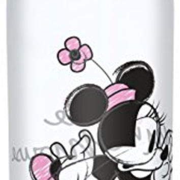 Zak! Designs Tritan Water Bottle with Flip-top Cap with Minnie Mouse Graphics, Break-resistant and BPA-Free Plastic, 25 oz.