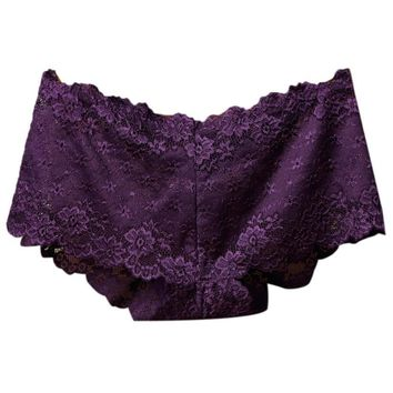 Boy Shorts in Lace! Low Rise Purple Panty