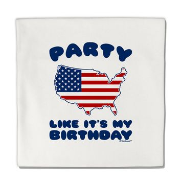 "Party Like It's My Birthday - 4th of July Micro Fleece 14""x14"" Pillow Sham"