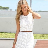ABC Fashion Women Summer Bandage BodyCon Lace Party Cocktail mini Dress