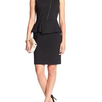 Banana Republic Womens Factory Peplum Ponte Dress