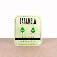 Tree car air freshener Stud Earrings