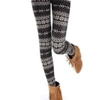*Free Shipping* Ladies Wave Snow Pattern Leggings QNSD-15 from clothingloves