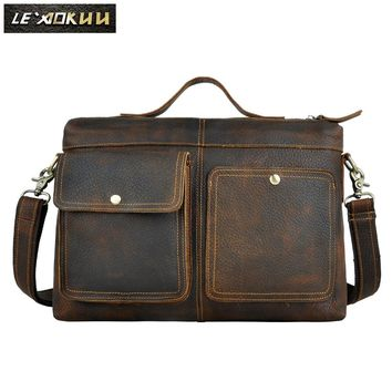 Leather Business Briefcase/Laptop Bag