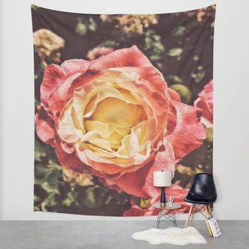 Rosey Posey Wall Tapestry by DuckyB (Brandi)