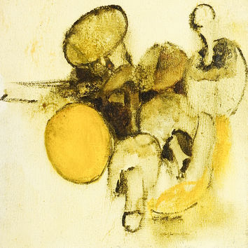 Modernist Mushrooms Still Life Painting