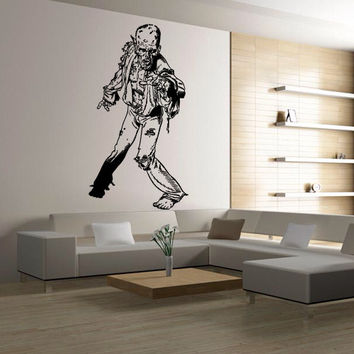 Wall decal decor decals sticker art vnyl design mummy zombie horror fear dead myth character corpse Bedroom (m1247)