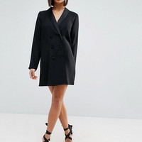 ASOS PETITE Tuxedo Dress at asos.com