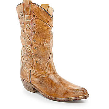 Bed Stu Tigress Western Boots - Tan Rustic/White