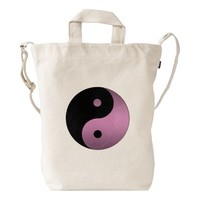 Black and Pink Yin Yang Symbol Duck Bag