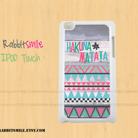HAKUNA MATATA Pastel iPod touch 4th / 5th Generation Case, Tribal Cover / Wood Aztec Geometric iPod touch 4g / 5g Case / iPod 4 / 5 cover