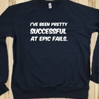 SUCCESSFUL AT EPIC FAILS NAVY SWEATER