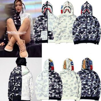 DCCKD9A BAPE x Shark Yin Yang Black White Hoodie (3 Colours Available)