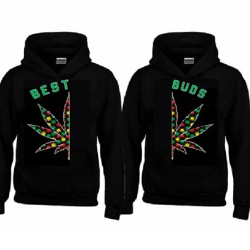 BEST - BUDS RASTA Hoodies+Your name or other text