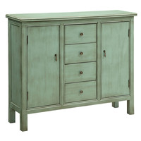 Crestview Collection Crestview Belgrade Wall Cabinet, Shoreline Blue