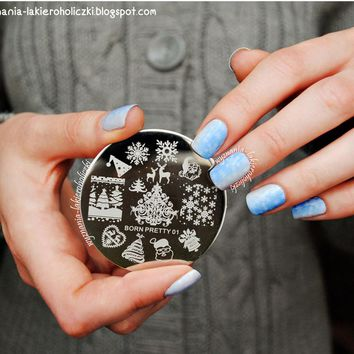 BORN PRETTY - Christmas Theme Nail Art Stamping Template Plate
