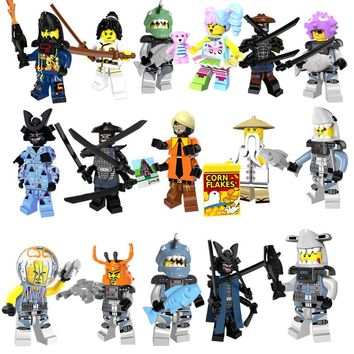 8pcs/set Ninjago Movie Lord Garmadon Shark Jelly Puffer Octopus Building Blocks Figures Toys Compatible With LegoINGly Ninjago