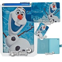 Disney's Frozen Olaf iPad 2 3 or 4 Faux Leather PVC Case with FREE Stylus