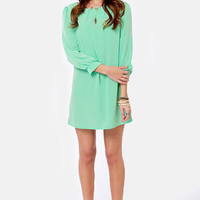 Sorbet-by Doll Mint Green Shift Dress