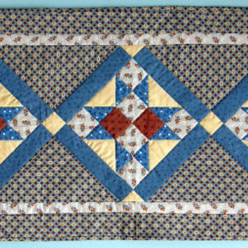 Quilted Civil War Star Table Runner