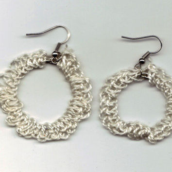 Wild Ivy Design | *NEW* Crochet  Earrings Off-White | Online Store Powered by Storenvy