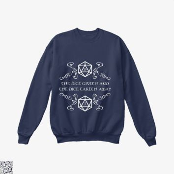 The Dice Giveth And Taketh, Dragon And Dungeon Crew Neck Sweatshirt