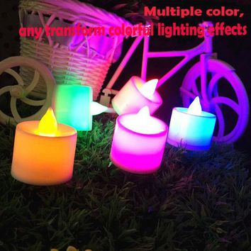 ICIK272 1PCS Led Flameless Color Changing Flickering Tealight Candles Battery Operated for Wedding Birthday Party Christmas Home