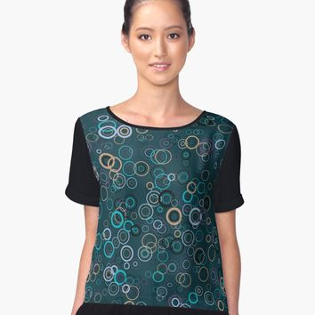 'Circles' Contrast Tank by valezar