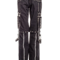 Banned Silver Chain Trousers (Black) | Blue Banana UK