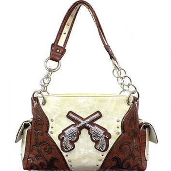 Western: Six Shooter w/Rhinestones Purse