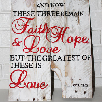 Rustic Wall Sign with Bible Verse