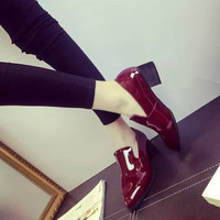 England Style Shoes Pointed Toe Dr Martens Stylish Boots [9432945738]
