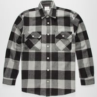 Rothcho Heavyweight Mens Flannel Shirt Grey  In Sizes