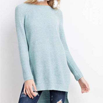 Long Sleeve H-Low Sweater Tunic