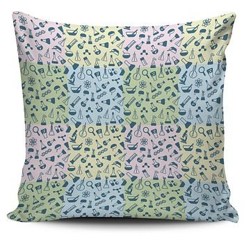 Science Symbols Pillow Cover
